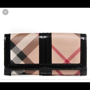 Authentic Burberry Nova Check Penrose Wallet NWT